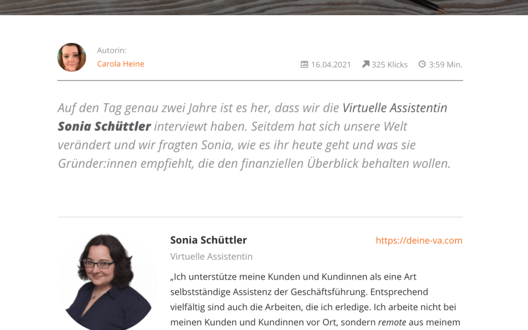 049: Mein Interview im lexoffice Blog